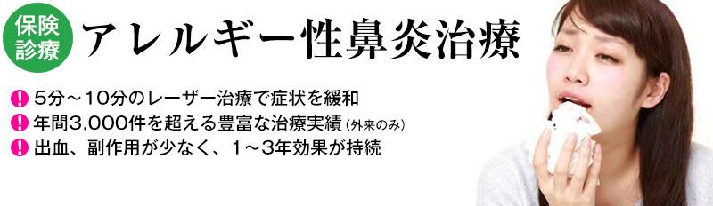 アレルギー性鼻炎のレーザー治療【保険診療】